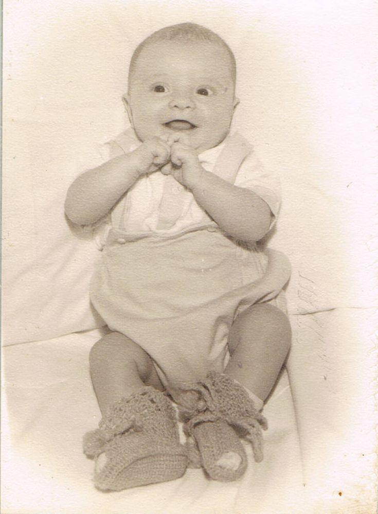 Ed Sanders as a baby